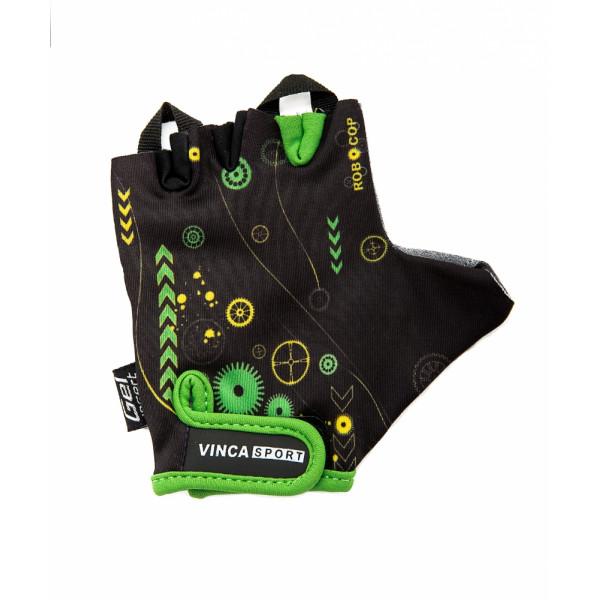 Перчатки велосипедные детские, ROBOCOP, VG 936 цвет черный, размер 4XS