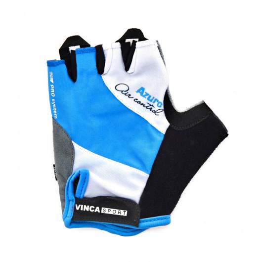 Перчатки велосипедные, AZURO, VG 933, цвет белые с голубым, размер M