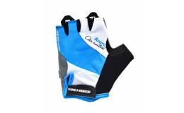 Перчатки велосипедные, AZURO, VG 933, цвет белые с голубым, размер ХXL
