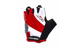 Перчатки велосипедные, MARSO, VG 933, белые с красным, размер ХL