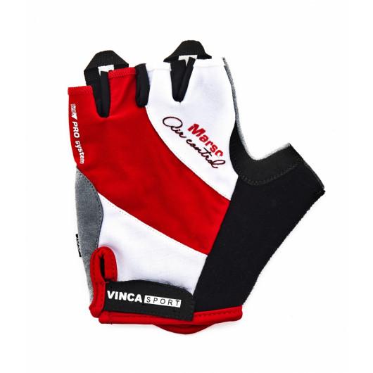Перчатки велосипедные, MARSO, VG 933, белые с красным, размер XХL