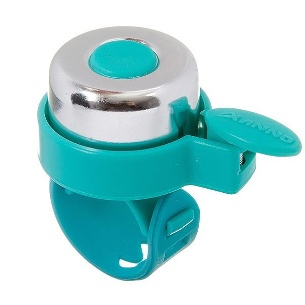 Звонок STG 11LD-04 серебр/голубой, с силиконовым хомутом Х95341
