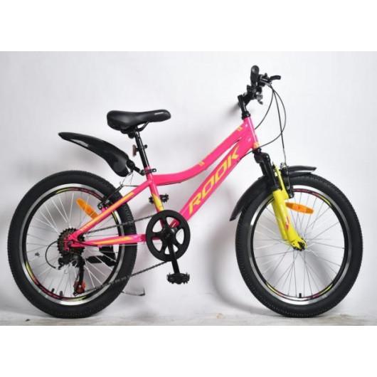 Подростковый велосипед 20' rook ms200w, розовый/зеленый ms200w-pk/gn