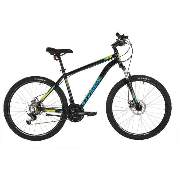 Горный велосипед 26' stinger element evo рама 16', чёрный